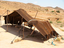 Tält i Sahara Desert, Tunisien Arkivfoto
