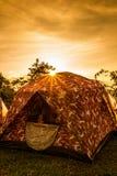 Tält i solsken Royaltyfri Bild