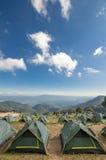 Tält på berget Royaltyfri Bild