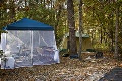 Tält som campar i Forest Park Arkivfoto