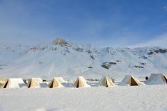 Tältläger i Ladakh, Indien Arkivfoto