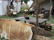 Tältriddare av medeltiden Arkivfoton