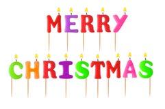 Tänd glad jul för stearinljus Royaltyfri Bild