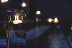 Tänd stege med stearinljus royaltyfri foto