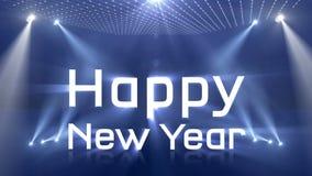 Tända blått för lyckligt nytt år 2018 lager videofilmer