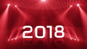 Tända det röda nya året 2018 stock video