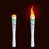 Tända eld på brand, mästerskapsymbolen, ett symbol av segern Stock Illustrationer