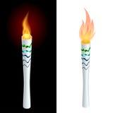 Tända eld på brand, mästerskapsymbolen, ett symbol av segern Isolerad vektorillustration Vektor Illustrationer