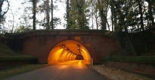 Tända i tunnelen Arkivbilder