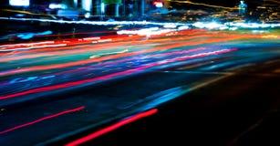 Bilen tänder slingor Fotografering för Bildbyråer