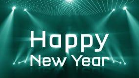 Tända turkos 2018 för lyckligt nytt år stock video