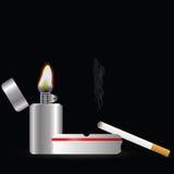 Tändare och sigarette Arkivfoton