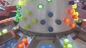 Tänder dekorativt på bilar för barn stock video