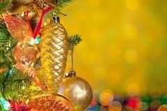 tänder färgrik gran för jul treen Royaltyfri Fotografi
