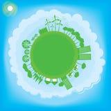 Tänk det gröna ekologibegreppet Arkivfoton