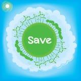 Tänk det gröna ekologibegreppet Royaltyfria Bilder