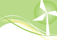 Tänk det gröna ekologibegreppet Royaltyfri Fotografi