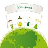 Tänk green Arkivfoto