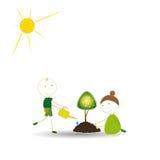 Tänk green Arkivfoton