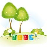 Tänk green stock illustrationer