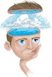 tänka för blå sky Royaltyfri Foto