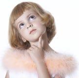 tänka för flickaprincess Fotografering för Bildbyråer