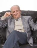 tänka för manpensionär Royaltyfri Fotografi