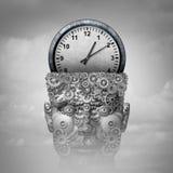 Tänka för Tid intelligens royaltyfri illustrationer