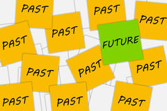 Tänka om framtiden Arkivbild