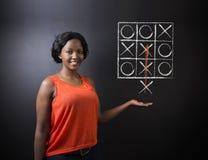 Tänka ut ur askkvinnan på svart tavlabakgrund Arkivfoton