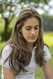 tänkande barn för flicka Royaltyfria Foton