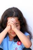 tänkande barn för flicka royaltyfri fotografi