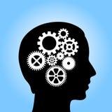 Tänkande behandling stock illustrationer