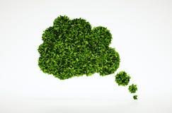 Tänkande bubblasymbol för ekologi Arkivbild