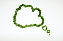 Tänkande bubblasymbol för ekologi Royaltyfria Bilder
