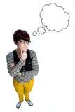tänkande kvinna fotografering för bildbyråer