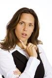 tänkande kvinna för affär Royaltyfria Foton