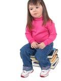 tänkande litet barn Royaltyfri Fotografi