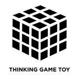 Tänkande modig leksaksymbolsvektor som isoleras på vit bakgrund, logo vektor illustrationer