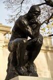 Tänkare på det Rodin museet, Philadelphia Arkivbilder