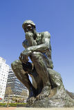 Tänkaren vid Rodin Arkivbilder