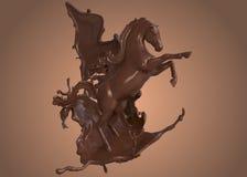 Tänzelndes Pferd in der Schokolade Stockfoto