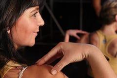 Tänzer auf Stufe lizenzfreies stockfoto