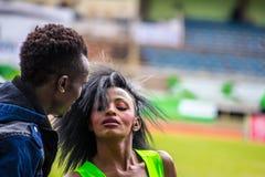 Tänzer bei Safaricom Sevens 2014 Stockbilder