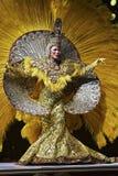 Tänzer bei Samba Show im Plataforma Rio de Janeiro Lizenzfreies Stockfoto