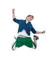 Tänzer bildet einen schwierigen Sprung Lizenzfreies Stockbild