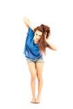 Tänzer - Brunette getrennt lizenzfreie stockfotografie