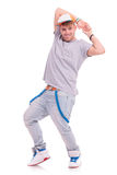 Tänzer, der heraus Zunge haftet Lizenzfreies Stockfoto