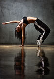 Tänzer der jungen Frau Stockfoto