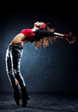 Tänzer der jungen Frau stockfotografie